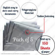 5x A5 Plástico Perno Carpetas Para Documentos Archivado Almacenamiento De Papel