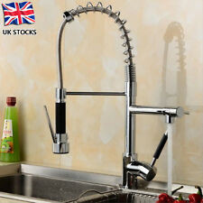 UK Chrome Pull out Spray Swivel Mixer Tap Faucet Kitchen Basin Sink Deck Mount