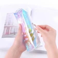 Fashion Women Colorful Laser Transparent Pencil Case Cosmetic Makeup Bag Pouch