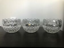 Genuine VTG Lead Crystal 24% Pbo Bohemia Czech Republic Rose Bowl w/ Orig Labels