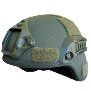 UHMW-PE Bullet Proof MICH 2000B NIJ Level IIIA Ballistic Helmet Medium OD Green