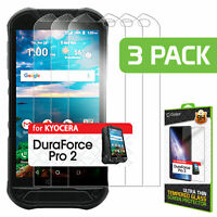 Kyocera Duraforce Pro 2 Premium 0.3mm Tempered Glass Screen Protector - 3 Pack