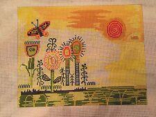 needlepoint canvas  Birds Feather   Summer Solstice