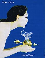 PUBLICITE ADVERTISING 084 1995 NINA RICCI l'air du temps par Enrique Radulescu