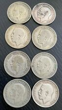 George V One Shilling Silver Coins (1917-1935) - VARYING CONDITION