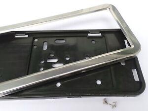 Pour Mercedes SLK R170 `96-04 CC 2xInox support plaque d'immatriculation
