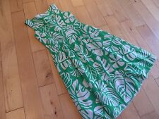 Laura Ashley Ladies Green/White Floral Summer Sleeveless Dress Size12