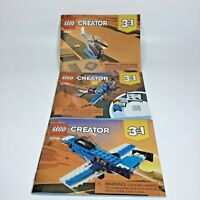 Lego Creator 3 in 1 Instruction Manuals Helicpoter Jet Prop Plane