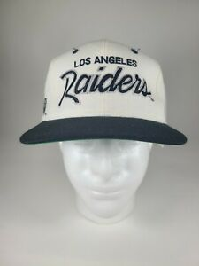 Vintage Los Angeles Raiders Double Line Script Sports Specialties SnapBack White