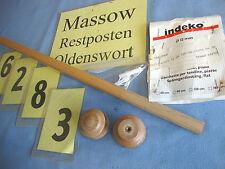 INDEKO 2 Sets Gardinenstange 120 cm Stilgarnitur Eiche hell   6283