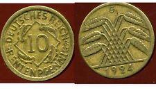 ALLEMAGNE 10  rentenpfennig  1924 G