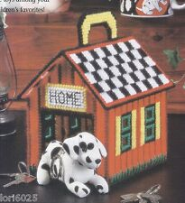 *THE LITTLEST DOGHOUSE- HOLDS MINIATURE STUFFED ANIMALS*PLASTIC CANVAS PATTERN**