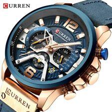 CURREN Men Quartz Watch Brand Chronograph Wristwatch Male Strap Calendar Watches