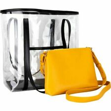 See Through Cosmetic Bags Set Makeup Bag and Transparent Tote with Purse Bag