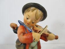 Hummel Puppy Love Boy Playing Violin Dog Goebel TMK6 Vtg Box #197