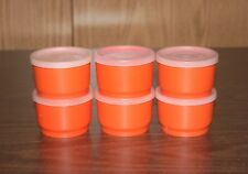 6 TUPPERWARE 4 OZ. SNACK CUPS WITH LIDS