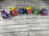 VTG Lot Of  6 Hasbro 2005, 2008,2009 Chuck and Friends Collectible Toy Cars