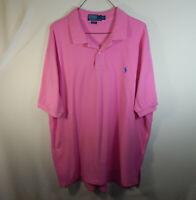 Ralph Lauren Polo Short Sleeve Mens Golf Dress Shirt Pink Size 2XL XXL