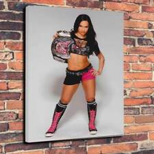 "AJ Lee WWE Scatola stampata foto su tela A1.30""x20"" 30mm Deep WRESTLING APRILE JEANE"