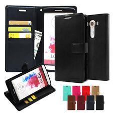 Card Pocket Slim Flip Leather Wallet Case Cover For LG G4 G5 G6 G7 V10 V20 V30