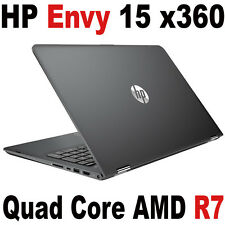 "7th Gen HP ENVY 15 x360 TOUCH 15.6"" FHD 3.6Ghz Quad AMD R7 Dark Ash Laptop PC"