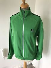 FRED PERRY Green Tracksuit Top Size S chest 40 Skinhead mod