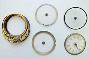 Partial Swiss Mystery Dial 21 Ligne Pocket Watch Movement