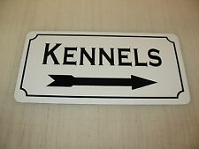 KENNELS w/ RIGHT ARROW Metal Sign 4 Dog House Pet Carrier Training Bed