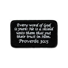 Tactical Combat Jacket Morale Patch Badge EMB Hook and Loop - Proverbs 30:5 BNW