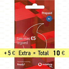 10x Activated Vodafone Netherlands LTE 4G SIM-card Prepaid NL-EU Call Credit 10€