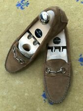 88e732e34b7 Gucci Womens Shoes Brown Suede Horsebit Loafers Drivers UK 6 US 8 EU 39  Ladies