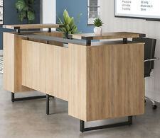 Mordern Receptionist Station With Glass Top Counter Amp Metal Reception Room Desk