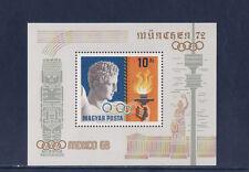 Hongrie  bloc  jeux olympiques  Mexico  1968  Munich 1972   num: BF 75     **