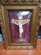 Vintage shadow box framed crucifix