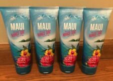 Lot Set of FOUR Bath Body Works MAUI MANGO SURF Body Cream Lotion Moisturizer