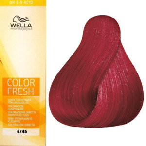 Wella Color Fresh Toning 6/45 Dark Blonde Red Mahogany 75ml