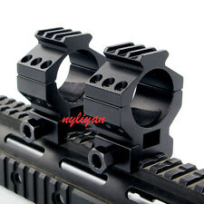 2Pcs 30mm Scope Ring 20mm Weaver Picatinny Rail High Pro Mount For Rifle Scope