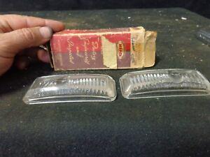 1942 DESOTO Mopar NOS Park Lamp Lenses LEFT AND RIGHT, CLEAR