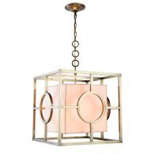 Elegant Lighting Quatro 2 Light Pendant in Burnished Brass