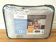 """Quility Premium Kids & Adult Weighted Blanket & Removable Cover -12 lbs- 60""""x80"""""""