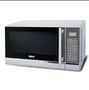 RCA .7 Cu Ft. Countertop Microwave Stainless Steel Glass Turntable Digital Timer