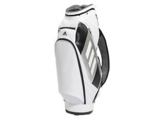 "Adidas Golf 2021 Performance Tour Men's Caddie Bag 9"" 6Way PU GQ9259 UPS / White"