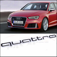 Scritta Emblema griglia Badge Logo Audi QUATTRO S4 A4 A6 A8 S3 S6 Q5 Q7 NERO