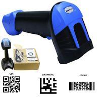 KKMOtech Handheld Automatic Sensor Wired USB 2D/QR Barcode Scanner CCD Bar Code