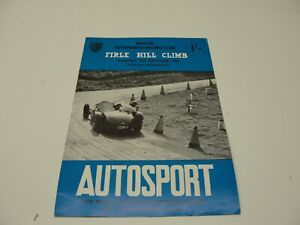 OCTOBER 2 1960 BRITISH AUTOMOBILE RACING CLUB FIRLE HILL CLIMB PROGRAM AUTOSPORT