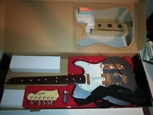 "PS3 RockBand Fender TELECASTER ""METALLIC GUNMETAL"" Wireless Guitar CIB VERY RARE"