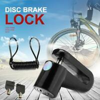 M365 Electric Scooter Safety Anti-Theft Disc Brakes Lock with Steel Wire (Black)