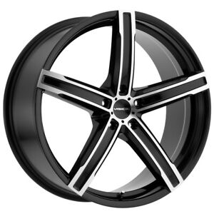 "Vision 469 Boost 16x7 5x4.5"" +38mm Black/Machined Wheel Rim 16"" Inch"