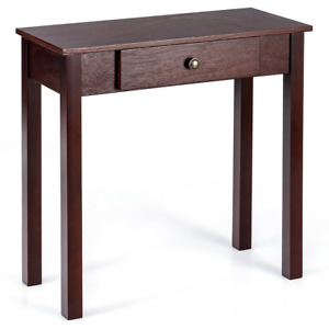 Small Space Console Table with Drawer for Living Room Bathroom Hallway