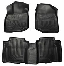Husky Liners WeatherBeater Floor Mats - 3pc - 98491- Honda Fit 2009-2013 - Black